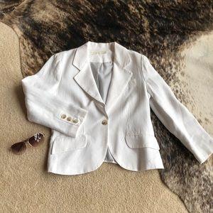 Nordstrom- White Linen Blazer